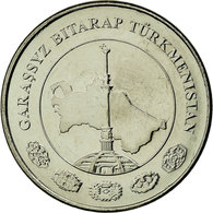Monnaie, Turkmanistan, 5 Tenge, 2009, SPL, Nickel Plated Steel, KM:97 - Turkménistan