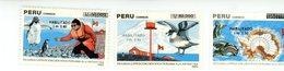 Perou 1991-Baleine,pingouin,oiseaux,expédition Polaire YT 950/2***MNH - Forschungsprogramme