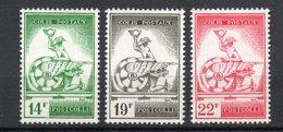 BELGIE 1957 POSTPAKKET ZEGELS SERIE//REEKS POSTFRIS FRAICHEUR POSTALE  MLH ** - Chemins De Fer