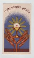Image Religieuse O Salutaris Hostia Souvenir De Mère Maxime Pensionnat Ste Marie Ambérieu En Bugey 1950 - Images Religieuses