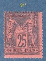 N° 91° Sage Type II  Oblitéré - 1876-1898 Sage (Type II)