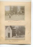 PHOTO  4 Photos  Originales Collées  INGRANDES VIENNE LES FOUINIERES JEU CROQUET PARC VUE LE CLAIN VIEUX POITIERS - Ingrandes