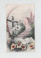 Image Religieuse Humilitas Souvenir Anniversaire Vie Religieuse Soeur Zénobie Pensionnat Ste Marie Ambérieu Bugey 1952 - Images Religieuses