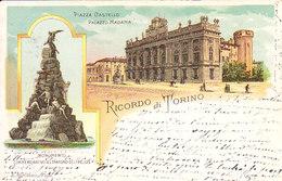 ITALIA - TORINO - Ricordo Di Torino, Gruss A 2 Vedute, Viag. 1898 - 2019-339-340 - Italia