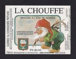 Etiquette De Bière Belge  LA CHOUFFE - Bière