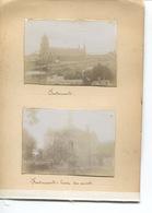 PHOTO  4 Photos  Originales Collées FONTEVRAULT TOUR DES MORTS CHATELLERAULT PONT HENRI IV - Lugares