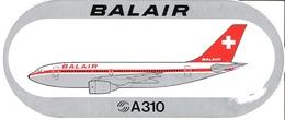 AIRBUS - Sticker: BALAIR - A310 - Aufkleber