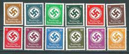 3. Reich Dienst ** - Hakenkreuze 3-50 Pfennig Postfrisch - Deutschland