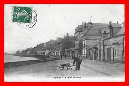 CPA (37) CHINON.  Le Quai Pasteur, Animé, Brouette...I0727 - Chinon