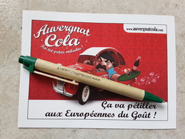 Découpis Auvergnat Cola 2 CV  EUROPEENNES DU GOUT AURILLAC - Affiches Publicitaires