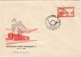 1960 OTVORITEV PROMETNE POŠTE MARIBOR POST OFFICE   SLOVENIJA JUGOSLAVIJA - Slovenia
