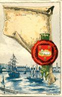 N°70955 -cpa Le Havre -ilustrateur Helène Hantz- Blason- - Le Havre