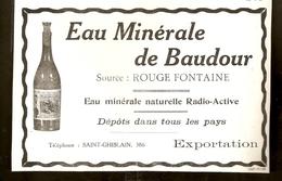 1928 - Publicité Ancienne - Eau Minérale De BAUDOUR  ( Saint-Ghislain) - Publicités