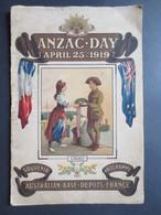Le Havre - Rouelles - Anzac - Day - Australian Base - Programme De Départ Des Troupes Australiennes -  1919 - RARE - - Dokumente