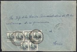 """1935. COGOLLUDO A SORIA. 15 CTS. ED. 683 (6). MAT. FECHADOR ESPECIAL """"COGOLLUDO/GUADALAJARA"""". MAGNÍFICA. - 1931-Hoy: 2ª República - ... Juan Carlos I"""