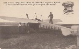 Rare Cpa De L'aviateur Védrines Sur Son Monoplan La VACHE Guerre 14-18 - 1914-18