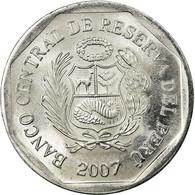 Monnaie, Pérou, 5 Centimos, 2007, Lima, SUP, Aluminium, KM:304.4a - Pérou