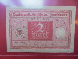 Darlehnskassenschein :2 MARK 1920 - [ 3] 1918-1933 : República De Weimar