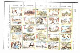Rhodésie Faune Afrique Éléphants Crocodiles Paysage Nature Arbres Histoire Montagnes Rouge 1977 Croix - Elefanti