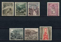 ANDORRE ESP 1963 N° 53/55 Et 57/60 * Neuf MH  C 11,80 € Vierge Meritxell Armoiries Ordino Pont San Antonio Canillo - Neufs