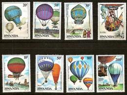 Rwanda Ruanda 1984 Yvertn° 1202-1209  *** MNH Cote 13,00 Euro  Premier Vol Du Ballon 1e Ballonvlucht - 1980-89: Neufs