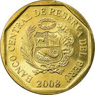 Monnaie, Pérou, 20 Centimos, 2008, Lima, SPL, Laiton, KM:306.4 - Turkménistan