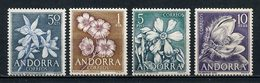ANDORRE ESP 1966 N° 61/64 ** Neufs MNH Superbes C 7,50 € Flore Fleurs Rose De Noël Jonquilles Oeillets Flowers - Spanish Andorra