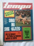 1979 TEMPO YUGOSLAVIA SERBIA SPORT FOOTBALL MAGAZINE NEWSPAPERS  Highbury ARSENAL RED STAR Viv Anderson China Basketball - Deportes
