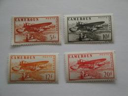 1943/4 Cameroun Yv PA 25/8 *  MH Bateaux Ships Cote 3.20 € Avions Airplanes  Michel 251/4  Timbres Sans RF - Poste Aérienne