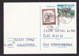 Austria: Stationery Postcard, 1989, Extra Stamp, Capricorn Mountain Animal (traces Of Use) - 1945-.... 2de Republiek