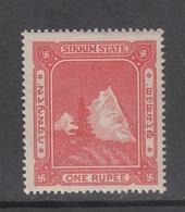 SIKKIM  State  1 Rupee  Revenue     #  17087 D  India  Inde  Indien Revenue Fiscaux - Non Classés