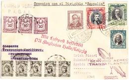 1932 Zeppelinflug Brief  Transatlantik Flug Zuleitungspost Aus Lima Peru über Chile Nach Apolda Deutschland; - Peru