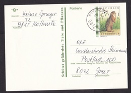 Austria: Stationery Postcard, 1995, Endangered Animal, Marmot, Suslik (traces Of Use) - 1945-.... 2nd Republic