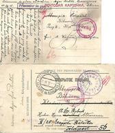 1915 - KRASNOJARSK, Kriegsgefangene Post, 2 Stk. - 1857-1916 Empire