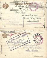 1915 - CAMAPA  Samara, Kriegsgefangene Post, 2 Stk. - 1857-1916 Empire