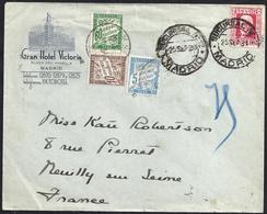 1934. MADRID A NEUILLY SUR SEINE. 25 CTS. ED. 667. TASADA A LA LLEGADA. MAGNÍFICA. - 1931-Hoy: 2ª República - ... Juan Carlos I