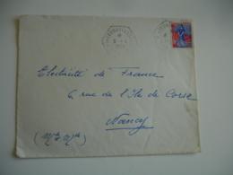 Mirecourt C P 12 Recette Auxiliaire Obliteration Sur Lettre - Marcophilie (Lettres)