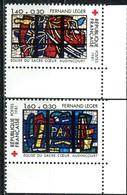 A13-16-6) Frankreich - Mi 2295 / 2296 ECKE REU = Y 2175 / 2176 - ** Postfrisch (C) - 140+30-160+30c Rotes Kreuz - Nuovi