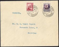 1936. SANTA CRUZ DE TENERIFE A SEVILLA. 20 CTS. VIOLETA Y 30 CTS. ROSA ED. 8 Y 686. MAGNÍFICA. - 1931-Hoy: 2ª República - ... Juan Carlos I