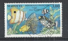 MAYOTTE 1997 - CORALS AND FISHES - USED OBLITERE GESTEMPELT USADO - Vie Marine