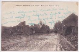 59 NIEPPE Ruines De La Rue De La Gare ,Ruins Of The Station's Street - France