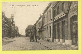 * Essen - Esschen (Antwerpen - Anvers) * (E. Desaix) Ijzerenwegstraat, Rue Du Chemin De Fer, Char, Chien, Animée, TOP - Essen