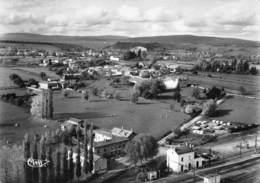 SENOZAN - Vue Panoramique Aérienne - Gare - Voies Ferrées - Cachet En Pointillés - Other Municipalities