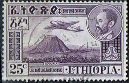 PIA - ETHIOPIE - 1947-55: Hailé Sélassié E Veduta Del Vulcano Zoquala - (Yv P.A. 24A) - Ethiopie
