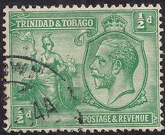 Trinidad & Tobago 1922 - 28 KGV 1/2d Green  SG 218 ( M1200 ) - Trinidad & Tobago (...-1961)