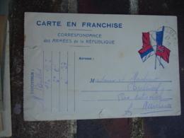 Tresor Et Postes 137 ,  1 Cercle 2 Etoiles Cachet Franchise Postale Militaire Guerre 14.18 - Marcophilie (Lettres)