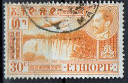 PIA - ETHIOPIE - 1947-55: Hailé Sélassié E Veduta Della Cascata Del Nilo Azzurro A Teissat - (Yv P.A. 25) - Ethiopie