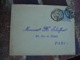 Daguin Double Jumele Beauvais 1897 Entier Postal Sage - Storia Postale