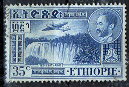 PIA - ETHIOPIE - 1947-55: Hailé Sélassié E Veduta Della Cascata Del Nilo Azzurro A Teissat - (Yv P.A. 25A) - Ethiopie
