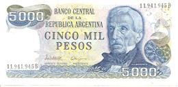 Argentina P-305 5000 Pesos 1977-83 UNC - Argentine